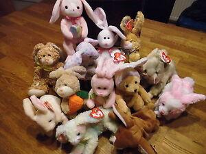 W-F-L-TY-Beanie-Babies-Hase-Ostern-freie-Auswahl-Osterei-Osterhase-Stofftier