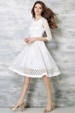 Oooh Lady Fashion White Mexican Designer Dress (Size XL).