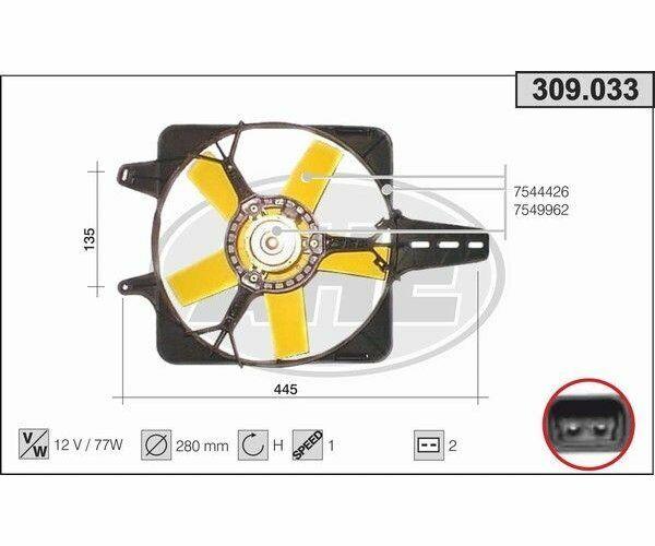 Ventola Del Radiatore Ventola Fiat Ducato I 2.0 AHE 309.033
