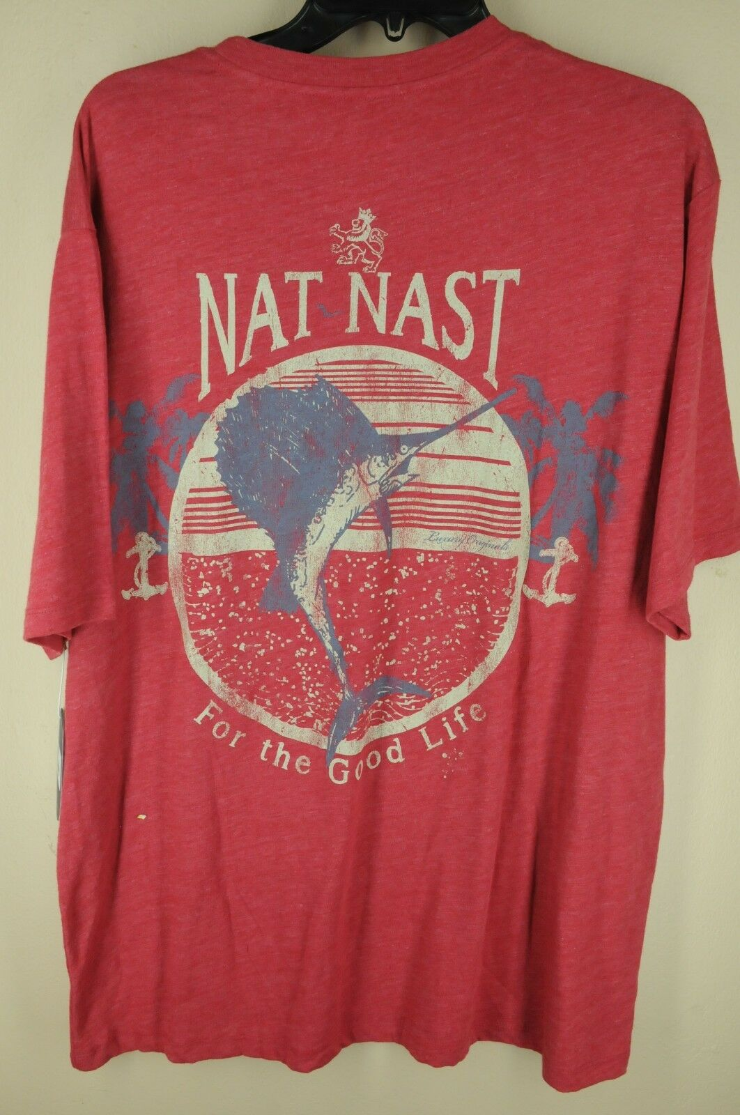 Nat Nast Luxury Originals Men's Red Graphic Polyester Cotton Shirt L Large NWT