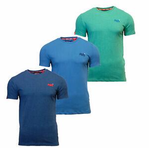 Cuello-redondo-para-hombre-Superdry-Orange-Label-de-Manga-Corta-camiseta-Azul-Marino-Azul-Marino
