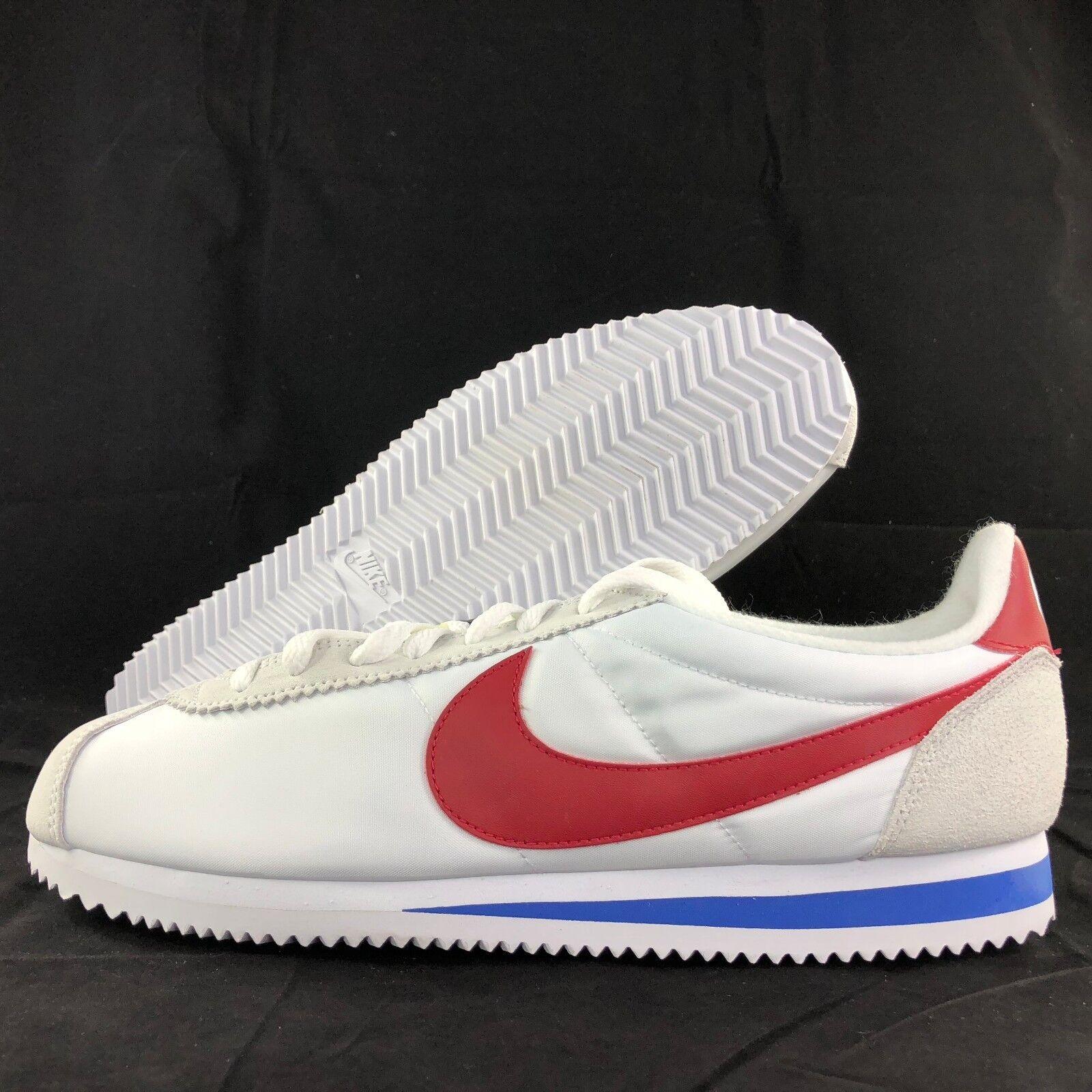 Nike Classic Cortez Nylon PREM QS Forrest Gump White Red 898280-100 Men's 10.5 best-selling model of the brand