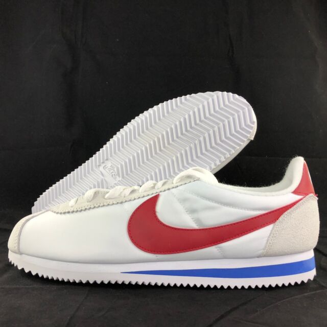 0a602c946ada Nike Classic Cortez Nylon PREM QS Forrest Gump White 898280-100 Men s  9.5-10.5