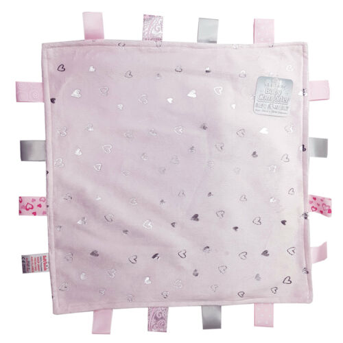 Baby Girls Soft Touch Tag Comforter Blanket With Satin Back Pink BC20