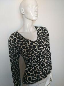 MARCCAIN-women-039-s-top-black-amp-white-long-sleeve-size-N4