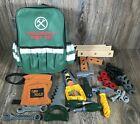 37 Piece Kids Tool Set /Hand Tools incl Green Backpack Storage Bag Carpenter