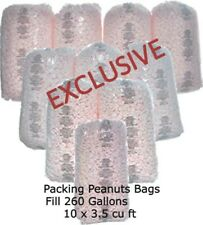 Bulk Packing Peanuts Bags Fill 260 Gallons 10 X 35 Cu Ft Pink Loose Wholesale