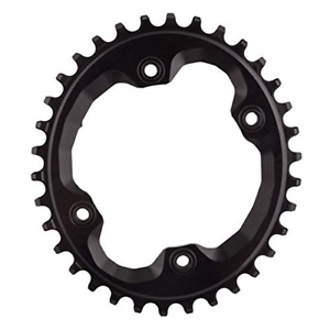 30t M9000 XTR ABSOLUTE BLACK Shimano Oval Traction Chainring Black//96 BCD