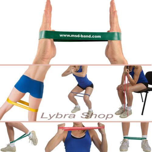 msd Band loop grün stark Kreis geschlossen Gymnastikband elastisch Pilates Yoga