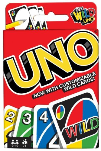 Instruction Latest Standard 112 Cards UNO Playing Cards Games Family Travel Fun