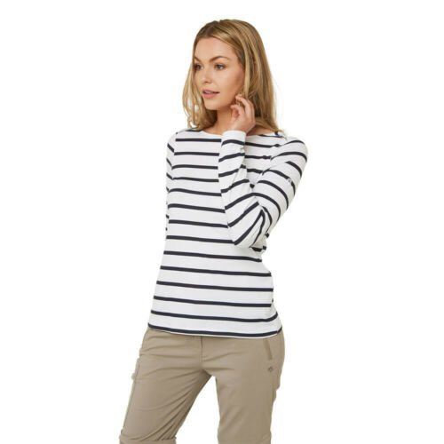 Black White Sports Craghoppers Womens NosiLife Erin II Long Sleeve Top