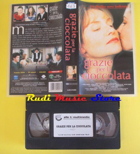film VHS GRAZIE PER LA CIOCCOLATA 2000 claude chabrol ELLEU LUS01095(F180)no*dvd