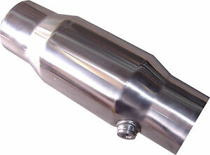 """Catalytic Converter, 3"""" 200 cell Stainless Steel, HIGH FLOW / PERFORMANCE NEW"""