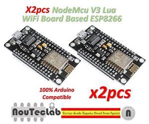 2pcs-NodeMcu-V3-Lua-WeMos-WiFi-Wireless-Module-CH340-Board-ESP8266-ESP12E