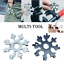 18-In-1-Stainless-Tool-MultiTool-Portable-Snowflake-Shape-Key-Chain-Screwdriver thumbnail 2