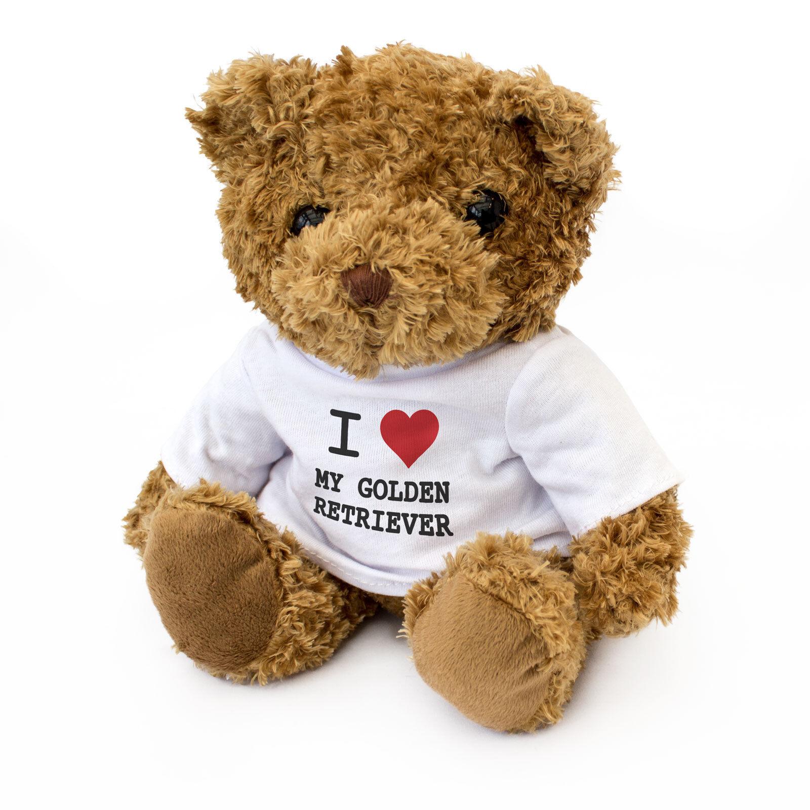 Nuevo-me encanta mi Golden Retriever-Lindo Retriever-Lindo Retriever-Lindo Y Tierno Oso De Peluche-Regalo Presente 126da8