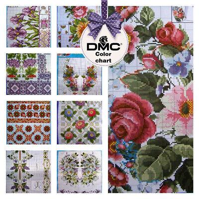 SD-45 Cross stitch patterns Flower Borders Ukrainian Vyshyvanka in Mexican  Boho | eBay