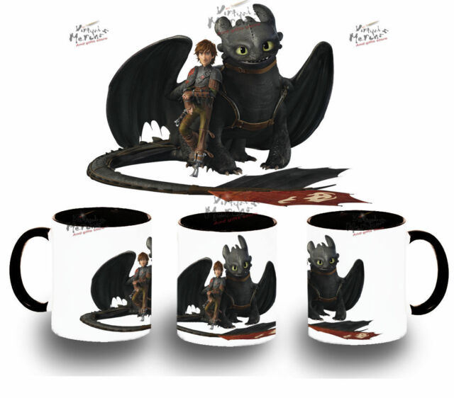 MUG HOW TO TRAIN YOUR DRAGON Toothless HIPO tazza taza tasse hypo cup uk