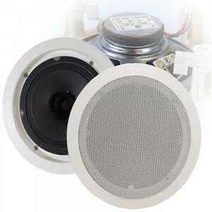 100v-Line-Metal-Easy-Quick-Fit-Ceiling-Speaker-6W-5-25-034-1-5w-amp-3w-Tapping-BNIB