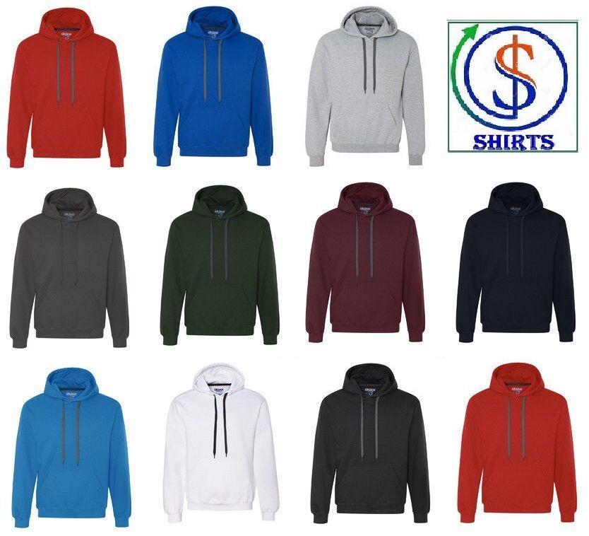Ringspun Hooded Sweatshirt Black L Gildan Mens Premium Cotton 9 Oz