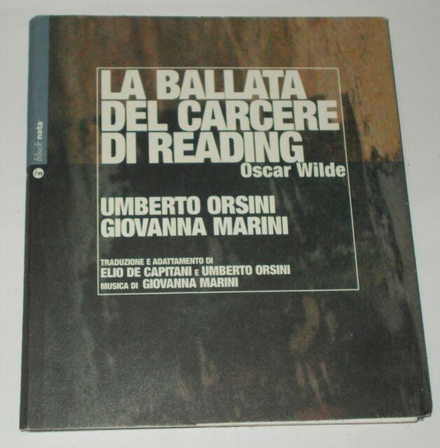 LA BALLATA DEL CARCERE DI READING LIBRO E CD AUDIO OSCAR WILDE ORSINI MARINI