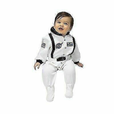 Astronaut Suit with NASA patches and diaper snaps,WHITE Size 6//12 Months Aeromax Jr