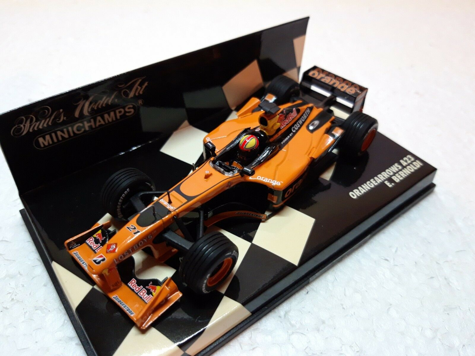 OrangeARROWS a23   21 E. Bernoldi  2002  MINICHAMPS  1 43 Arrows