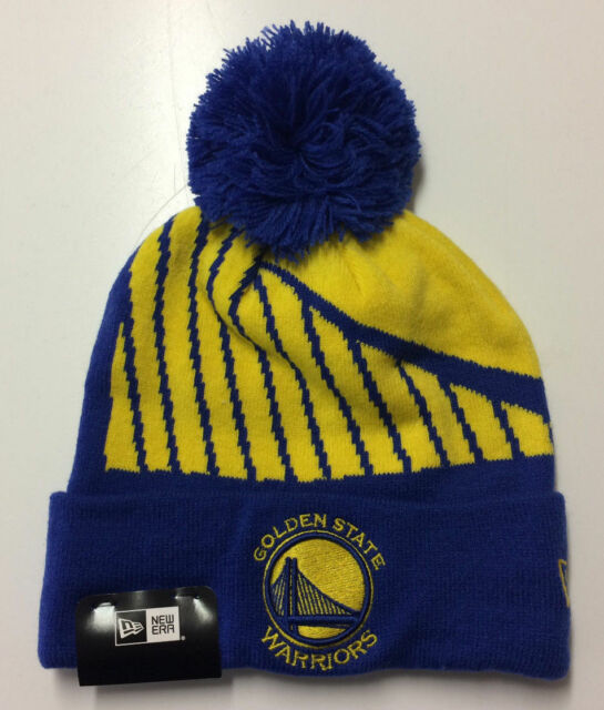 finest selection d335d 929a7 Golden State Warriors New Era NBA Knit Hat Big Logo Whiz 3 With Pom Men s