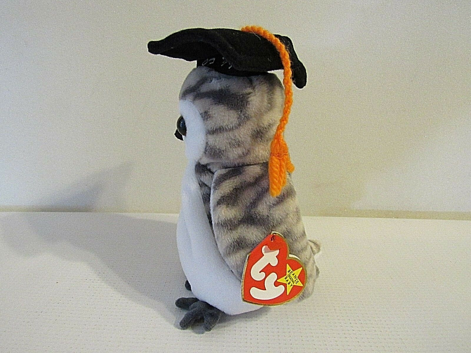 TY Beanie Babies Collection Retired  Wiser  with Tag Tag Tag Errors (BB) 850634