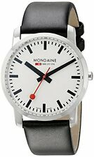 NEW Mondaine Gent's Simply Elegant Watch - Black - Size: 41mm