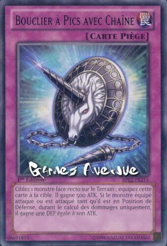Yu-Gi-Oh ! Carte Bouclier à Pics avec Chaine BP02-FR214 (BP02-EN214) VF/RARE