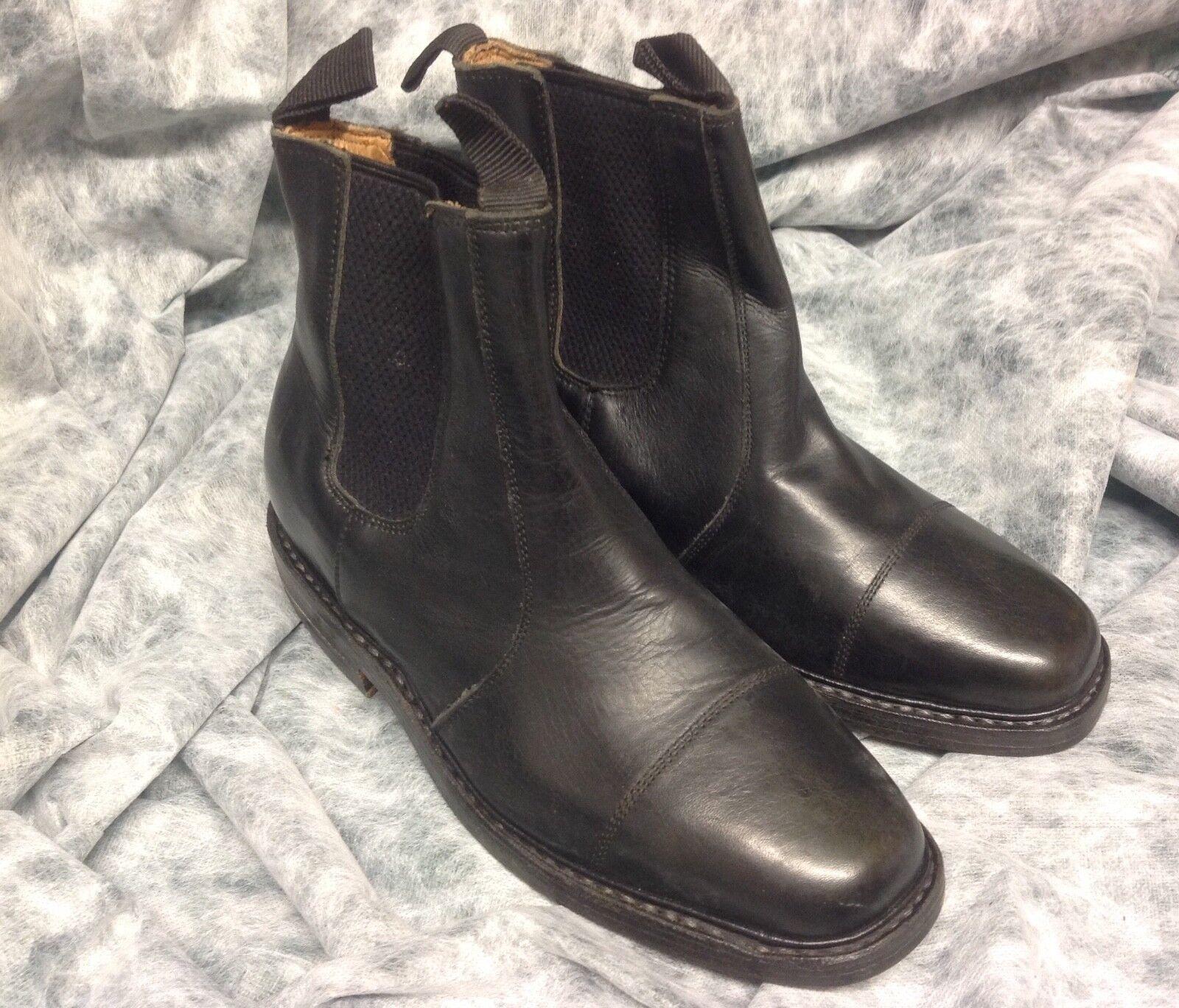 Benchgrade 1920. Handmade Cap Pull on Dealer Boots. Boots. Dealer Black. All Leather. Size 6 af5c65