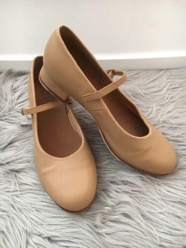 BLOCH Women's Tan Leather Tap Shoes 8 1//2