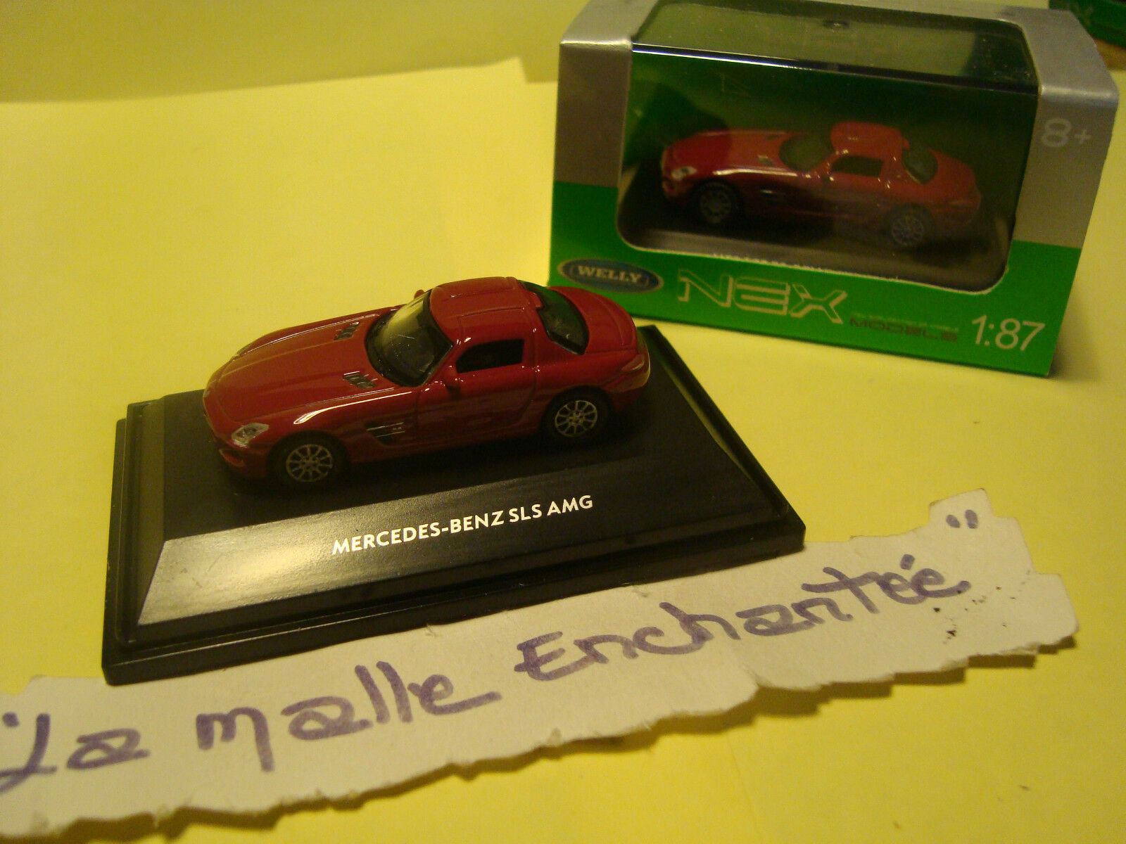 MINIATURE MODELISME FERROVIAIRE MERCEDES BENZ SLS AMG 1 87 HO WELLY 5 CM DE LONG