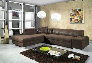 couch couchgarnitur sofa garnitur schlafsofa oscar mit schlaffunktion l form neu ebay. Black Bedroom Furniture Sets. Home Design Ideas