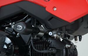 GROM 125 2018 R/&G RACING PAIR BLACK  FORK PROTECTORS for Honda MSX125
