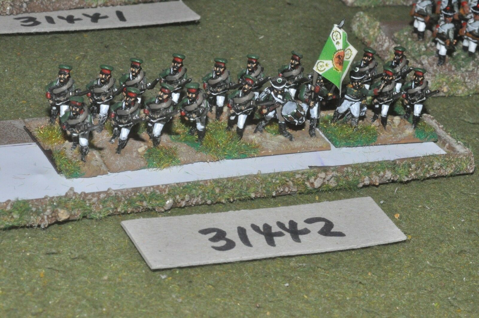 15mm napoleonic   russian - regiment 20 figures - inf (31442)