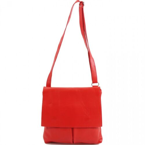 Ladies Women Italian Vera Pelle Leather Crossbody Girls Messenger Shoulder Bag