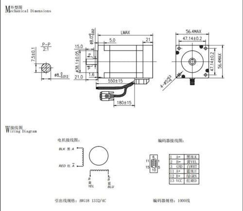1PC NEMA23 23SSM2440-EC1000 Closed-Loop Stepper motor 2.9N.M 4A 1000 encoder