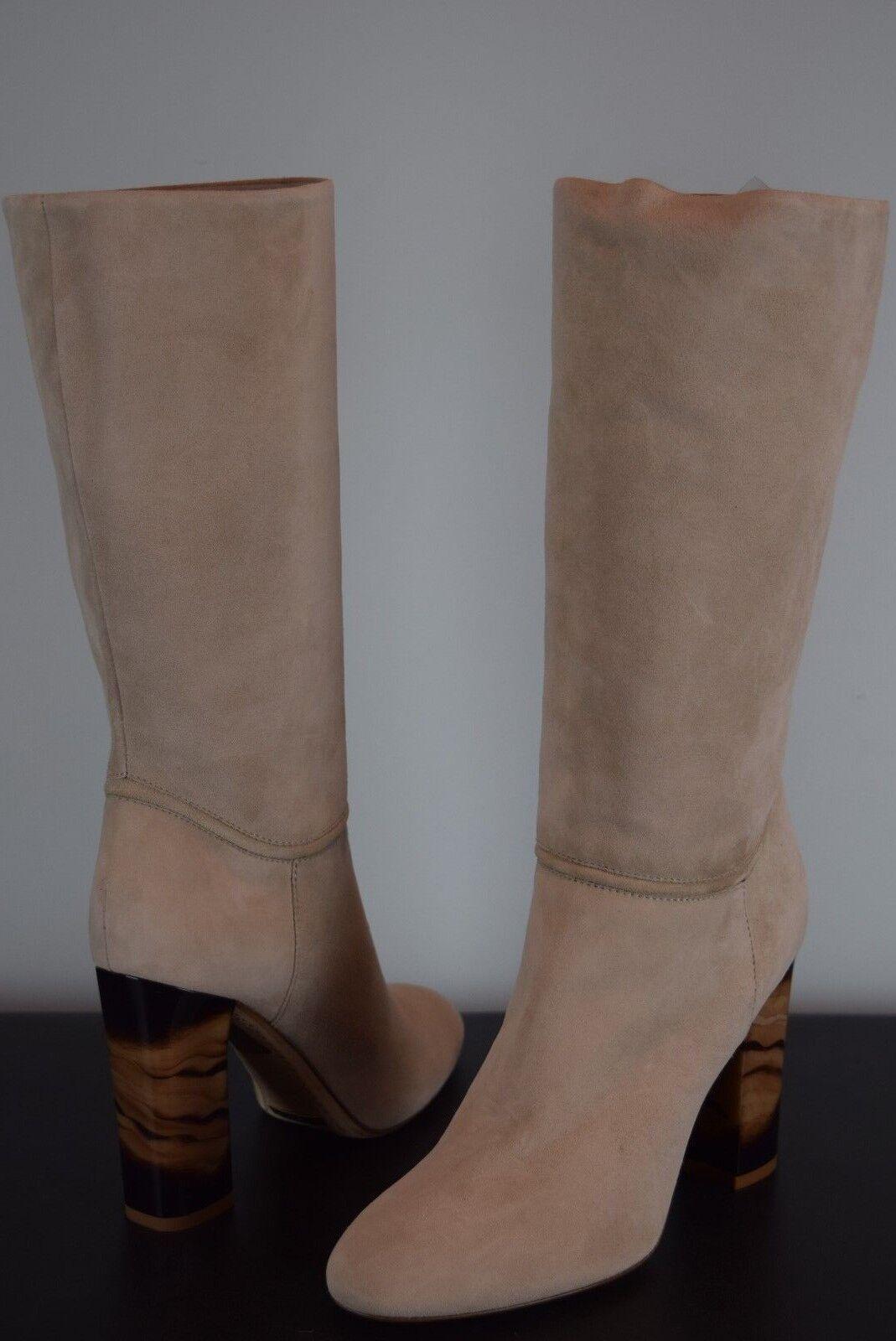 NIB  1395 damen Burberry Burberry Burberry Heritage Jazmine Tall Stiefel sz 38 8 US Suede Sandstone adfe41