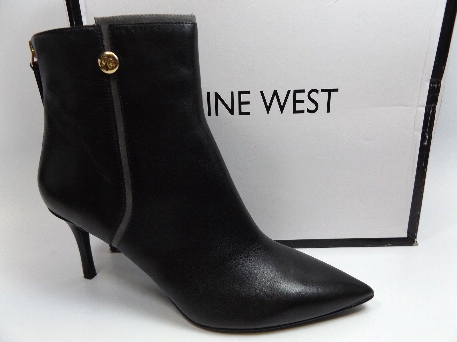 Nine West Para Mujer Monzón Botín Talla 9.5 M, M, M, Pantalla De Cuero Negro, Nuevo, D8829  bajo precio del 40%