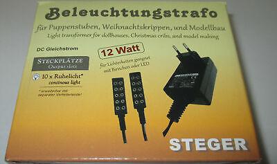 Trafo STEGER Transformator 3,5V Gleichstrom DC für Krippe oder Puppenhaus-Lampen