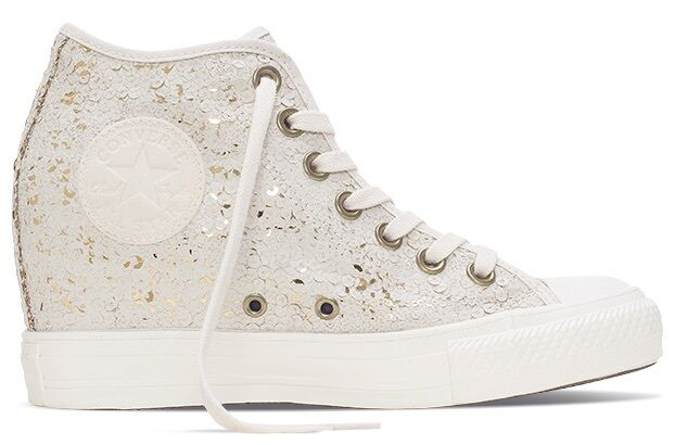 New CONVERSE Chuck Taylor All Star Lux MID Parchment blanc femmes Chaussures 551556C