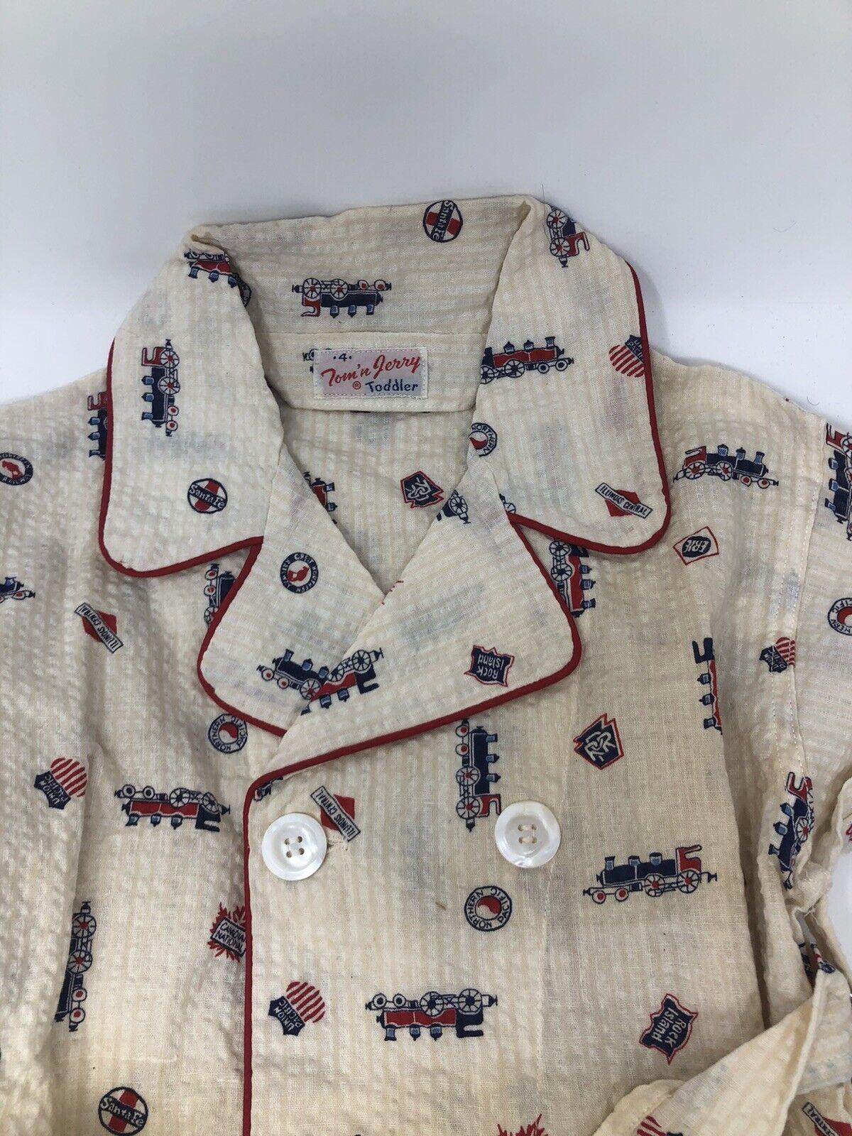 TOM 'N' JERRY Vintage 1950's Toddler Pajama Robe - image 2