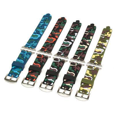 Apple Watch Camouflage Armband Ersatz Silkon 38mm & 42mm Sport Watch Gen. 1 2 3 Niedriger Preis