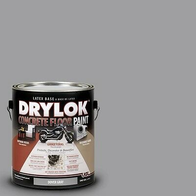 1 Gal Gray Concrete Floor Paint Grey Latex Basement