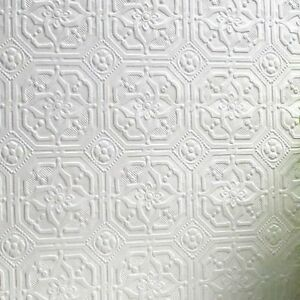 Image Is Loading RD124 Anaglypta Paintable Textured Wallpaper Wallcovering Derby