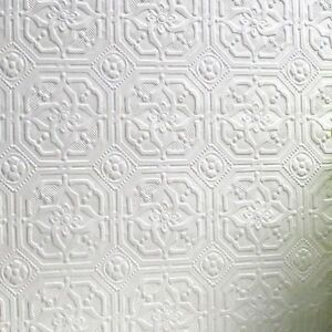 Rd124 anaglypta paintable textured wallpaper wallcovering for Paintable textured wallpaper