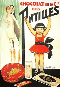 CP Postcard Poster Advertising Chocolat Of Antilles Edit Clouet 10412