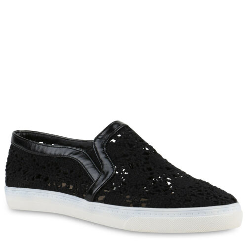 895165 Damen Sneakers Slipper Spitze Slip-ons Schuhe Schnürer Trendy